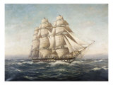 Uss Constitution Gicl&#233;e-Druck von Myron Clark