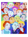 Crowded Giclee Print by Diana Ong