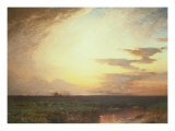 Twilight on the Western Plains Premium Giclee Print by Samuel Colman