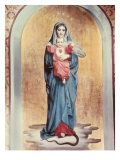 Our Lady of the Sacred Heart Reproduction procédé giclée par Antonio Ciseri