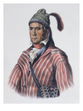 Menawa (Oakfuskee Chief) Giclee Print by Charles Bird King