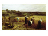 Harvest Time Premium Giclee Print by Léon Augustin L'hermitte