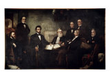 The First Reading of the Emancipation Proclamation Giclee Print by Francis Bicknell Carpenter