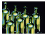 Wine Bottles Giclee Print by Diana Ong