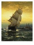 Passing Ambrose Lightship Giclee Print by Edward Moran