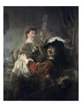 Prodigal Son in the Tavern (Rembrandt and Saskia) Giclee Print by Rembrandt van Rijn