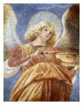 Music-Making Angel with Violin Gicle-tryk af Melozzo da Forl