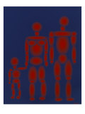 Red Tin Family Giclee Print by Diana Ong