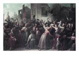 Lincoln's Drive Through Richmond, April 1865 Impression giclée par Dennis Malone Carter