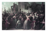 Lincoln's Drive Through Richmond, April 1865 Giclee Print by Dennis Malone Carter