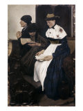 Three Women in Church Giclee Print by Wilhelm Leibl