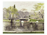 Boston Commons Giclee Print by Arthur Clifton Goodwin