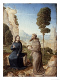 Temptation of Christ in the Wilderness Giclee Print by Juan de Flandes