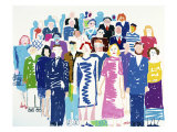 Crowd No.6 Giclee Print by Diana Ong