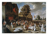 Village Fair Giclee Print by Gillis van Tilborgh
