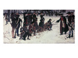 Baron Von Steuben Drilling Troops at Valley Forge Giclee Print by Edwin Austin Abbey