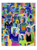 Family Plan (Blue) Giclee Print by Diana Ong