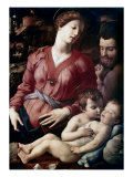 The Holy Family Premium Giclee Print by Agnolo Bronzino