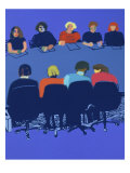 Conference in Color Giclee Print by Diana Ong