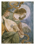 Angel with Lute Gicle-tryk af Melozzo da Forl