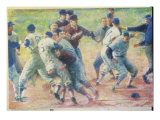 Bush League Brawl Giclee Print by Lance Richbourg