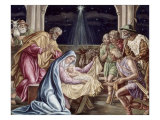 Birth of Our Lord Giclee Print by Julius Schnorr von Carolsfeld