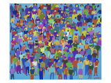 All in a Crowd Giclee Print by Diana Ong