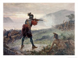 Champlain's Battle with the Iroquois, 1609 Giclee Print by Jean Leon Gerome Ferris