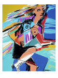 Rollerblades Giclee Print by Diana Ong