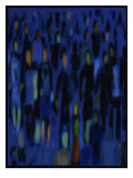 Blue Crowd Giclee Print by Diana Ong