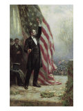 Lincoln at Independence Hall Giclee Print by Jean Leon Gerome Ferris