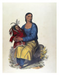 The Chippeway Widow Giclee Print by Charles Bird King