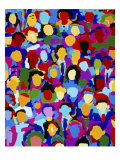 Crowd XVII Giclee Print by Diana Ong