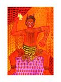 Maori Haka (Challenge Dance) Giclee Print by John Newcomb
