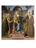 St. Virgin and Child Surrounded by St. Zenobius Giclee Print by Francesco Pesellino