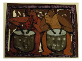 Duo of Drums Giclee Print by Leslie Xuereb