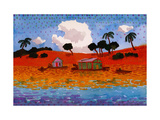 Houseboats on the Amazon River Giclee Print by John Newcomb