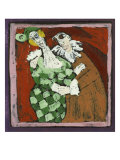 Harlequin and the Doctor (Commedia Dell'Arte) Giclee Print by Leslie Xuereb