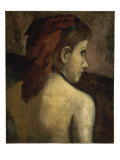 Head of a Young Girl Giclee Print by Claude-emile Schuffenecker