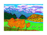 New Zealand Farm Giclee Print by John Newcomb