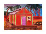 Amazon River Houseboat Giclee Print by John Newcomb