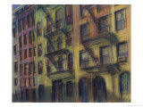 Brownstones Giclee Print by Patti Mollica