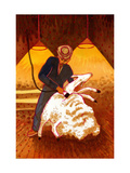 Sheep Shearing Giclee Print by John Newcomb