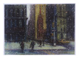 Wall Street Blizzard, New York City Giclee Print by Patti Mollica