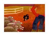 Sheep Dog Trial Giclee Print by John Newcomb