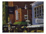 Blue Moon Cafe, New York City Giclee Print by Patti Mollica