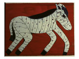 Zebra Giclee Print by Leslie Xuereb