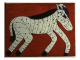 Zebra Giclee Print by Leslie Xuereb