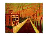 Spring on North Street (Greenwich, CT) Giclee Print by John Newcomb