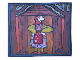 Baba Yaga Giclee Print by Leslie Xuereb